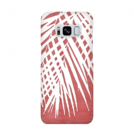 Galaxy S8   Palm Leaves on Red by amini54