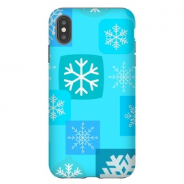 iPhone Xs Max  BLUE WINTER PATTERN by MALLIKA