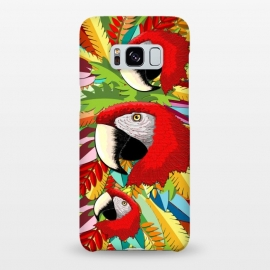 Galaxy S8+  Macaw Parrot Paper Craft Digital Art by BluedarkArt