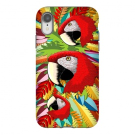 iPhone Xr  Macaw Parrot Paper Craft Digital Art by