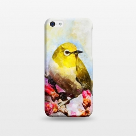 iPhone 5C  Watercolor Yellow Bird by Creativeaxle