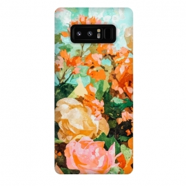 Galaxy Note 8  Blush Garden by  (floral, nature, botanical, spring, blossom, bloom, flourish, flowers, tropical, exotic, petals, blush)