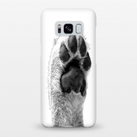 Galaxy S8+  Black and White Dog Paw by Alemi
