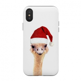 iPhone Xs / X  Ostrich Christmas by Alemi