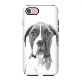 iPhone 8/7  Black and White Boxer Dog by Alemi