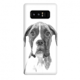 Galaxy Note 8  Black and White Boxer Dog by Alemi