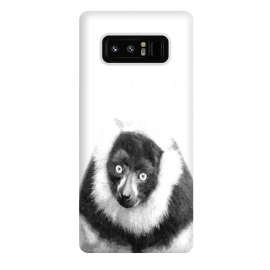 Galaxy Note 8  Black and White Lemur by
