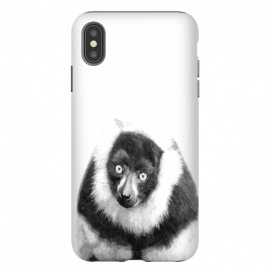 iPhone Xs Max  Black and White Lemur by Alemi