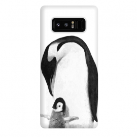 Galaxy Note 8  Black and White Penguins by Alemi