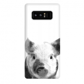 Galaxy Note 8  Black and White Pig by Alemi