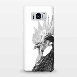 Galaxy S8+  Black and White Rooster by Alemi