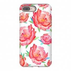Blushed Out Peony  by Amaya Brydon (peony,flowers,flower,pink,blush,botanical,florals,red,pinks,spring)