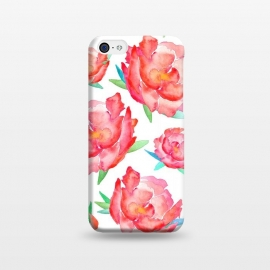 iPhone 5C  Blushed Out Peony  by Amaya Brydon (peony,flowers,flower,pink,blush,botanical,florals,red,pinks,spring)