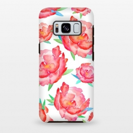 Galaxy S8 plus  Blushed Out Peony  by  (peony,flowers,flower,pink,blush,botanical,florals,red,pinks,spring)