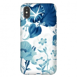 iPhone Xs Max  Indigo blue watercolor flowers by Oana