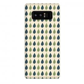 Galaxy Note 8  Leaf Stripe by  (leaf,modern,pattern,woodland,tree,forest,green,blue)
