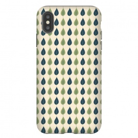 Leaf Stripe by Sarah Price Designs (leaf,modern,pattern,woodland,tree,forest,green,blue)