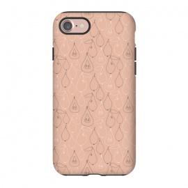 iPhone 8/7  Pear Drops by Sarah Price Designs (Pink,gray,pear,fruit,food,illustration,pattern)