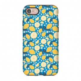 iPhone 8/7  Summer Lemons by Sarah Price Designs (Summer,Lemon,Fruit,Citrus,Blossom,Flower,Flora,Foods,Pattern,Hand drawn)