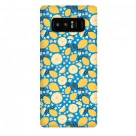 Galaxy Note 8  Summer Lemons by Sarah Price Designs (Summer,Lemon,Fruit,Citrus,Blossom,Flower,Flora,Foods,Pattern,Hand drawn)