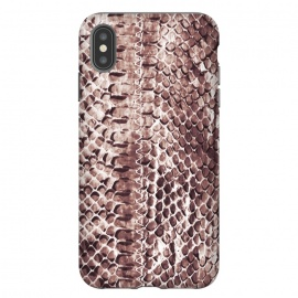 Reddish brown snake skin animal print by Oana