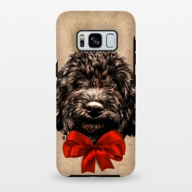Galaxy S8 plus  Dog Cute Vintage Puppy Pet with Red Bow by