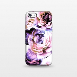 iPhone 5C  Pink purple rose petals by Oana