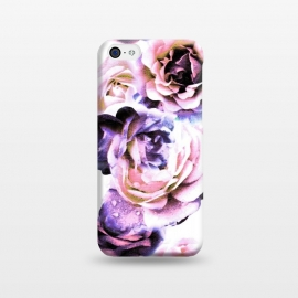 Pink purple rose petals by Oana