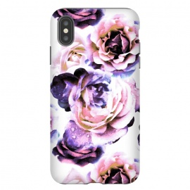 iPhone Xs Max  Pink purple rose petals by Oana