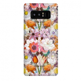 Galaxy Note 8  Colorful painted Marie Antoinette flowers by