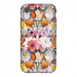 iPhone Xr  Colorful painted Marie Antoinette flowers by Oana