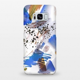 Galaxy S8+  Blue beige watercolor paint splatter by Oana