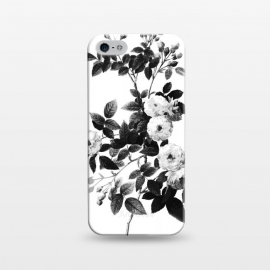 iPhone 5/5E/5s  Elegant monochrome roses on white by Oana