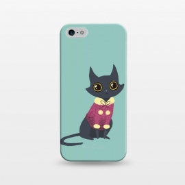 iPhone 5/5E/5s  Cozy cat red by Laura Nagel