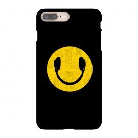 iPhone 8/7 plus  Smiley Headphones by  (smiley, headphones,music,head phones,smiley headphones,smile,pop,popart,pop art,yellow,cool,top,trend,love)