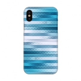 iPhone X  Blue Color Pattern by Art Design Works