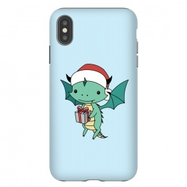 iPhone Xs Max  Christmas dragon by Laura Nagel