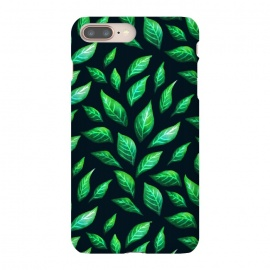 Dark Abstract Green Leaves Pattern by Boriana Giormova (leaf, plant, green, flora, foliage, nature, summer, abstract, illustration, floral, spring, decorative, fresh, beautiful, botanical, eco, season, greenery, black, drawing, minimal, shape, painting, modern, color, elegant, painted, drawn, feminine, pretty, stylish, nature lover)
