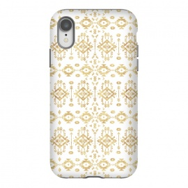iPhone Xr   Luxury gold geometric tribal Aztec pattern by InovArts