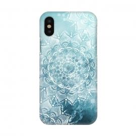 iPhone X  Mandala bluegreen by