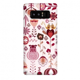 Galaxy Note 8  Scandinavian Flowers in Pink and Orange by