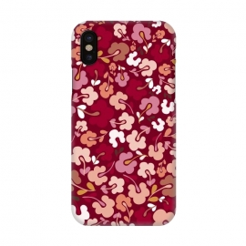 iPhone X  Ditsy Flowers in Pink and Orange by Paula Ohreen