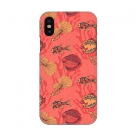 iPhone X  Fishes on living coral background by Katerina Kirilova