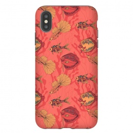 iPhone Xs Max  Fishes on living coral background by Katerina Kirilova