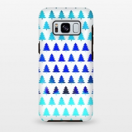 Galaxy S8 plus  Blue pine trees pattern - Christmas sweater by