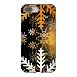 Golden white snowflakes - Christmas by Oana