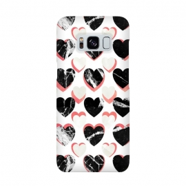 Marble hearts - 3d pattern by Oana
