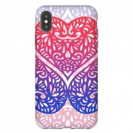 iPhone Xs Max  Gradient lace hearts by Oana