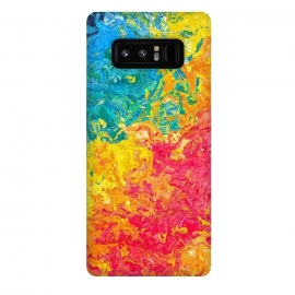 Galaxy Note 8  Rainbow Abstract Painting II by Art Design Works