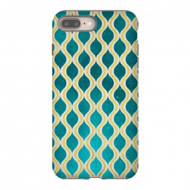 Gold - Turquoise pattern I by Art Design Works